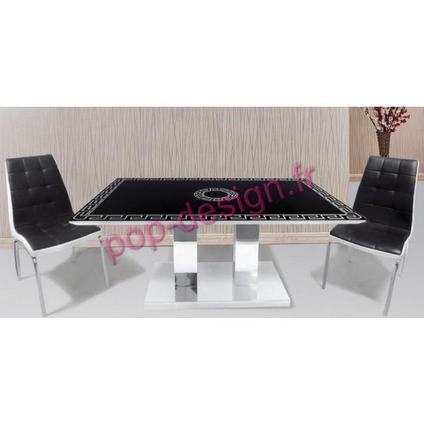 Table De Salle À Manger Atrium Noir 150x90