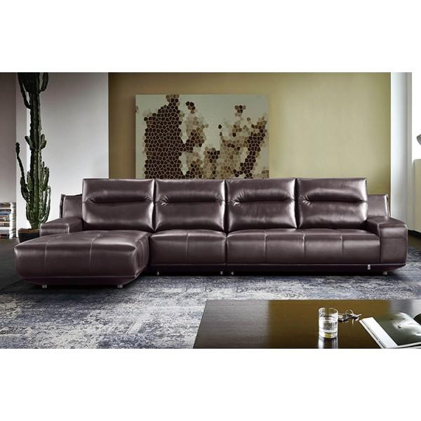 Canapé d'angle en cuir JIRA (miniature)