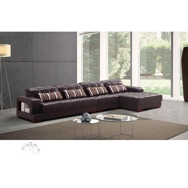 Canapé d'angle en cuir RISSA (miniature)