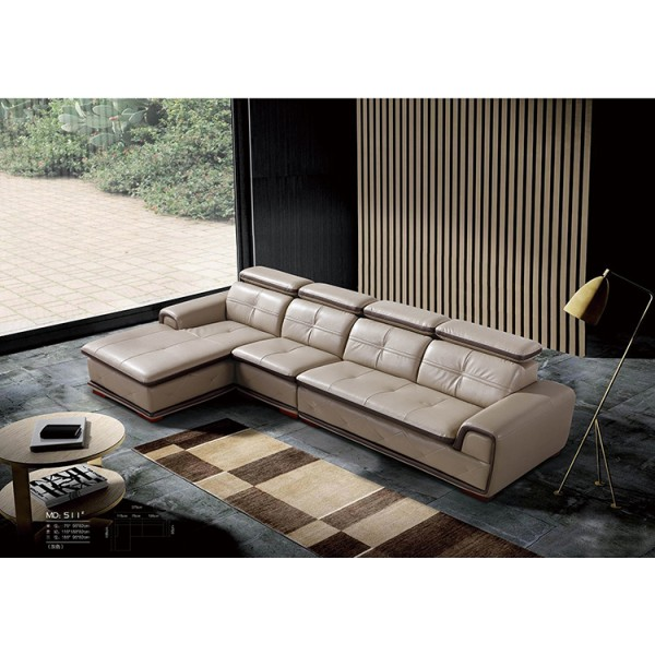 Canapé d'angle en cuir BRENTA