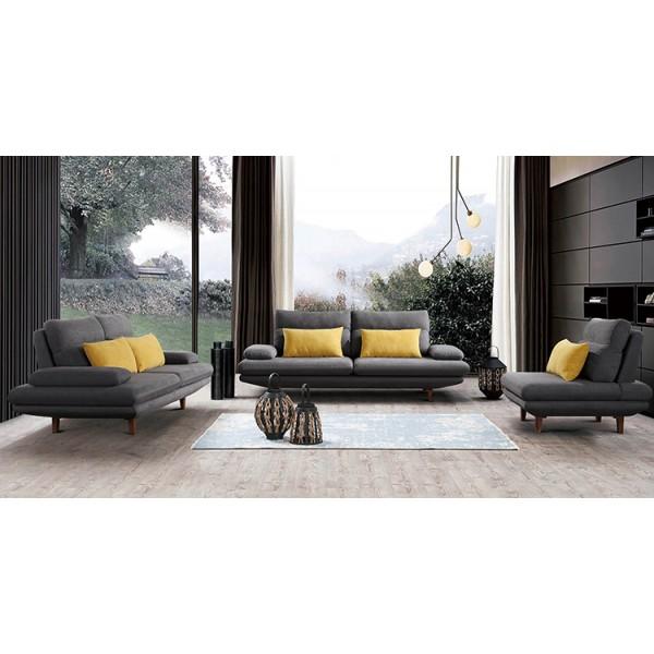 Canapé 3 places en tissu BELIZE (miniature)