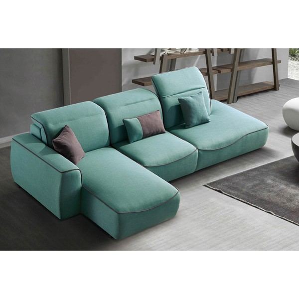 Canapé d'angle en tissu PERLI (miniature)