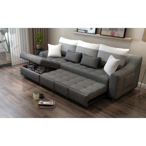 Canapé-lit 3 places en tissu MIGA (miniature)
