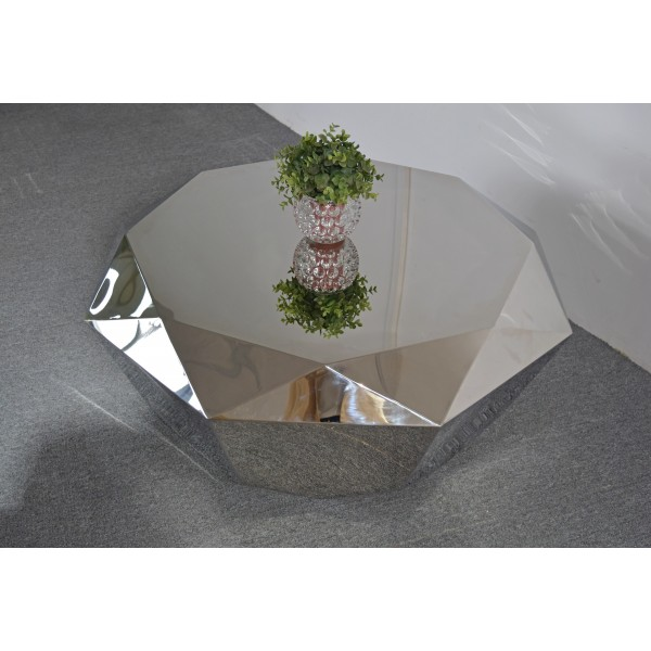 Table basse en inox Diamant