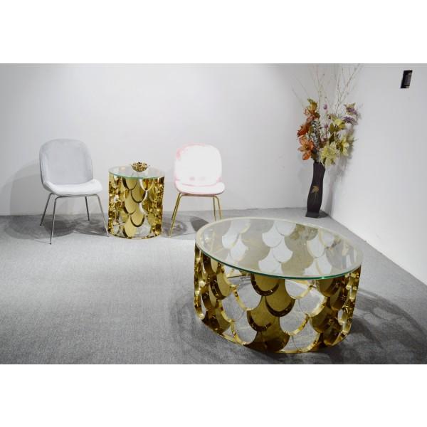 Table d'appoint en inox AMBER