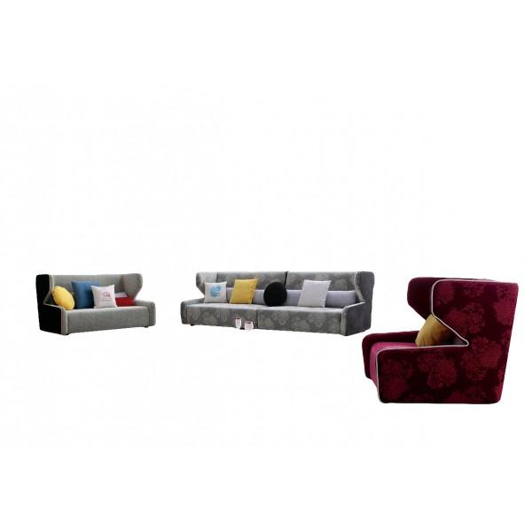 Canapé 2 places en tissu Mila (miniature)