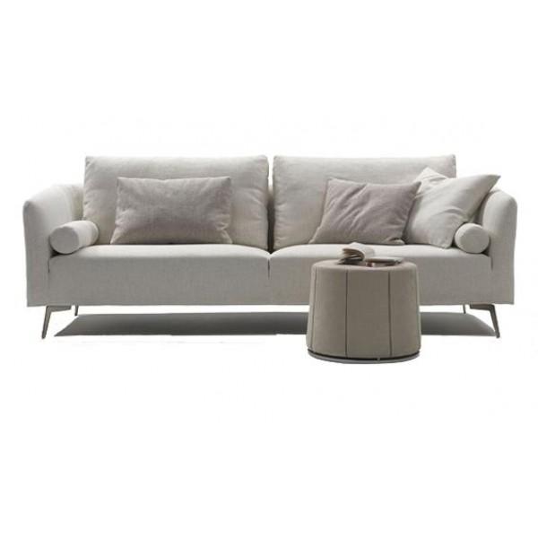 Canapé 2 places en tissu ROSSI (miniature)