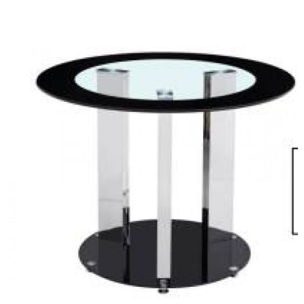 Table De Salle À Manger Jean Noir Transparent diamètre 100cm