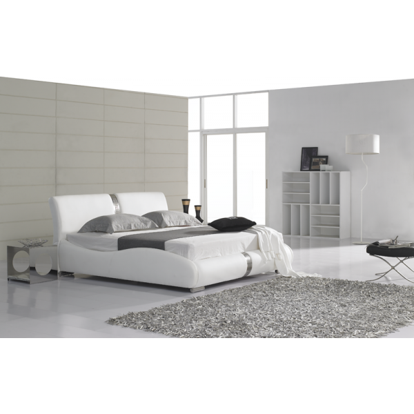 lit personnalisable lina 140 160 180 cuir ou simili sommier pop de. Black Bedroom Furniture Sets. Home Design Ideas