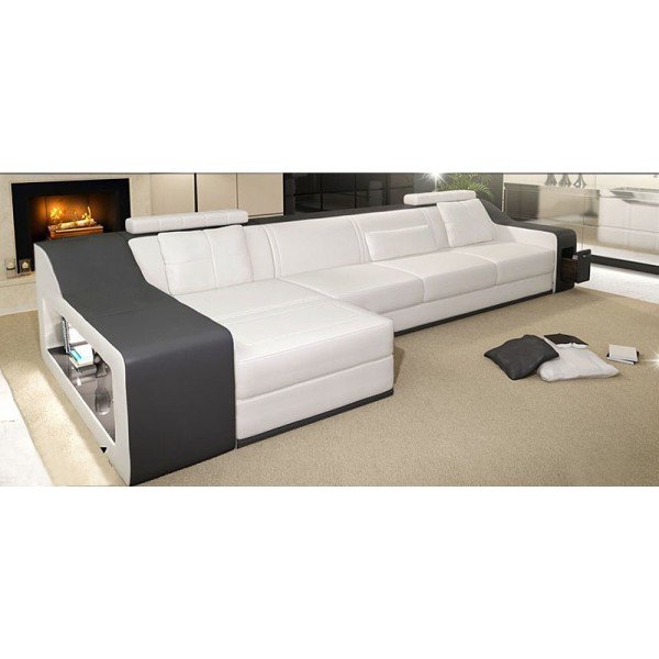 canap d 39 angle en cuir marseille rangement int gr pop. Black Bedroom Furniture Sets. Home Design Ideas
