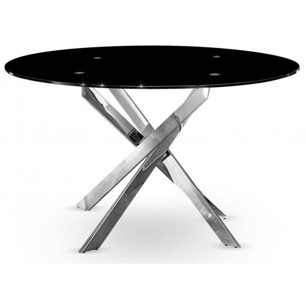 Table De Salle À Manger Mikado Noir diamètre 100cm