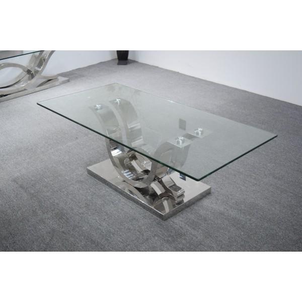 Table basse en inox FLORENCE