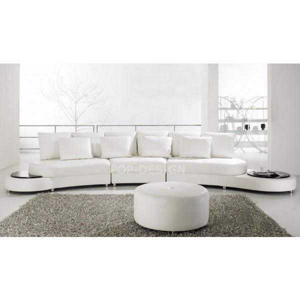 Canapé design demi lune en cuir Foggia
