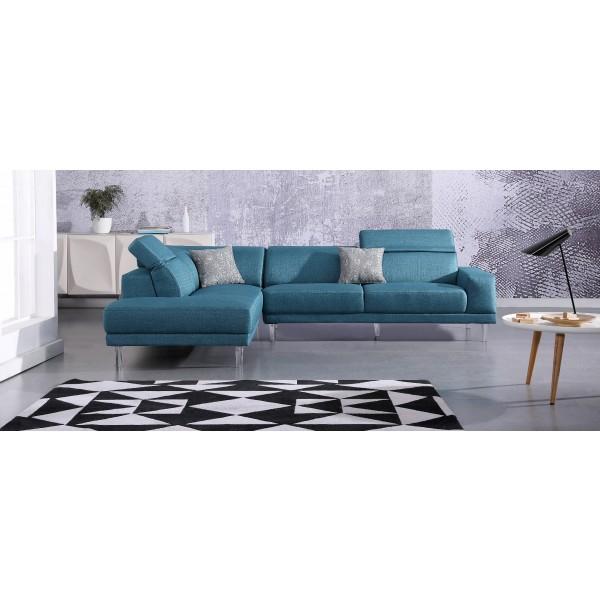 Canapé d'angle en tissu FIDJI