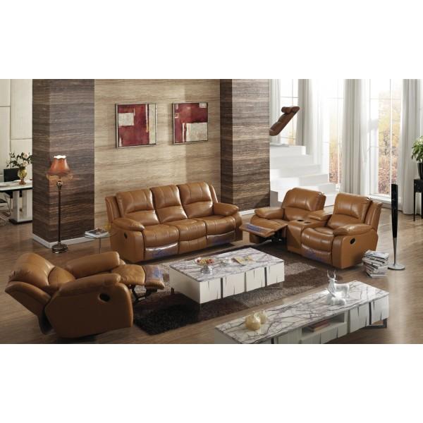 Canapé 3+2+1 en cuir Relax AUGUSTE