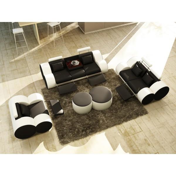 Canapé 3 places en cuir ROLL