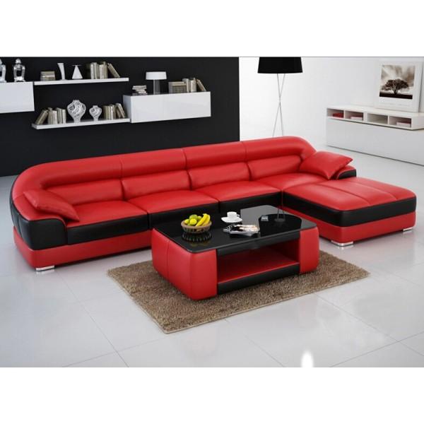 Canapé d'angle en cuir ATLANTA