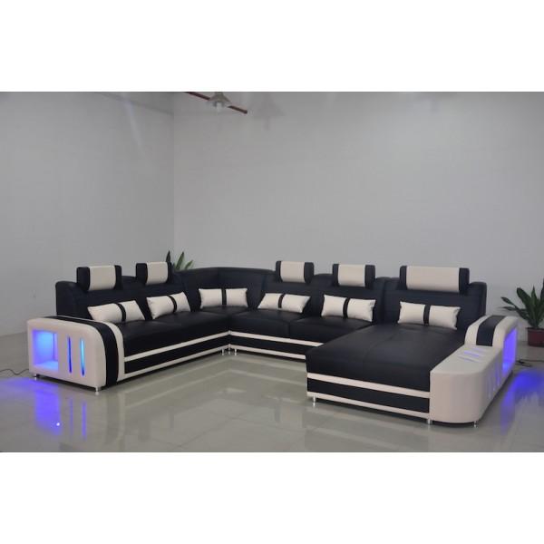 Canapé panoramique en cuir ADI