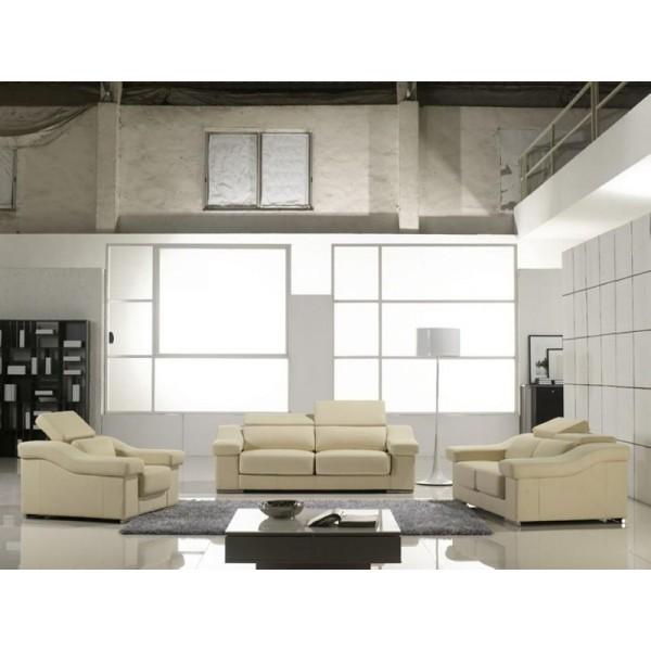 Canapé 3 places en cuir MONTEVIDEO