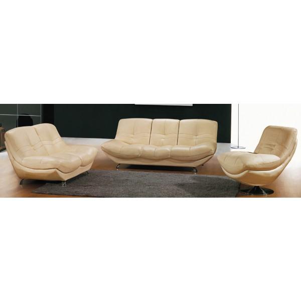 Canapé 3 places en cuir véritable Jaguar