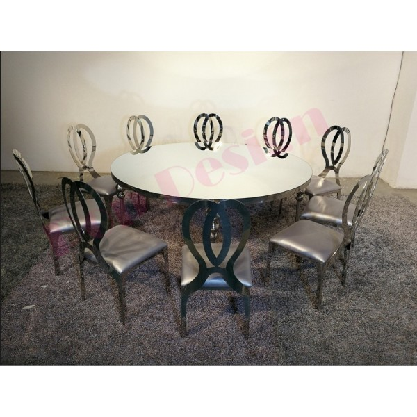 Chaise baroque inox personnalisable Infinite - Lot de 6