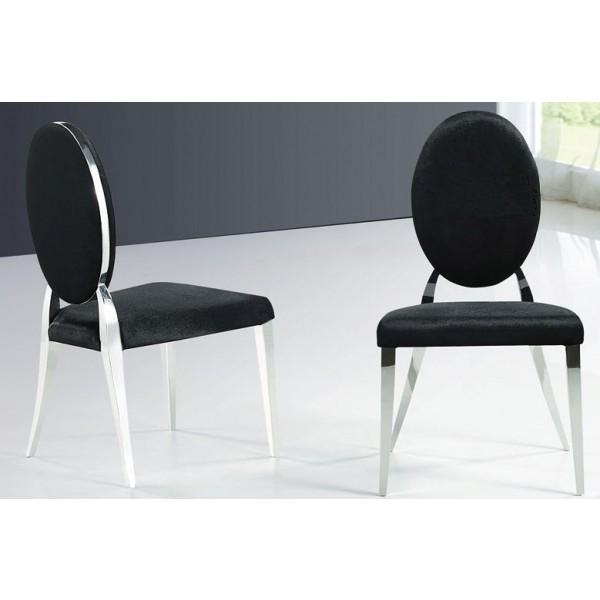 Lot de 6 chaises baroque Majesté en inox