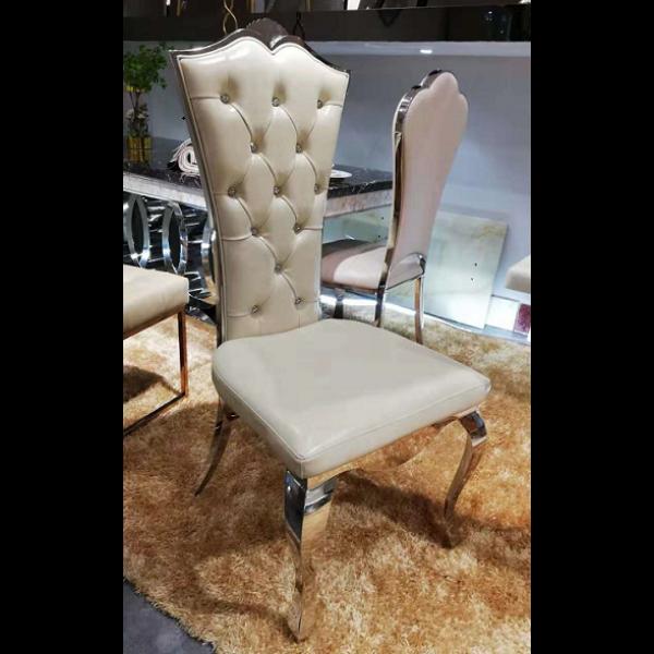 Chaises de salle à manger en inox FLORENCE - lot de 2
