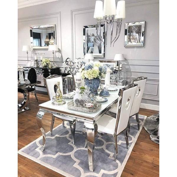 Table de salle à manger baroque Duchesse personnalisable