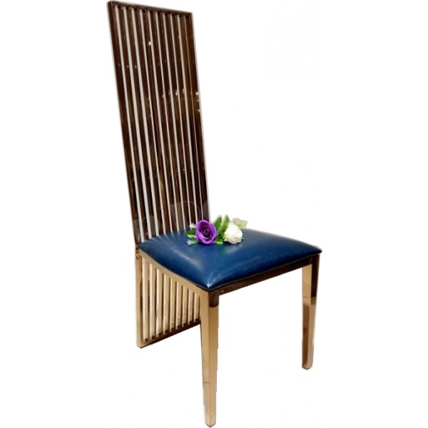 Chaises de salle à manger en inox SEPHORA - lot de 6