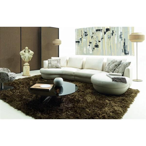Canapé d'angle en cuir FLORENCE