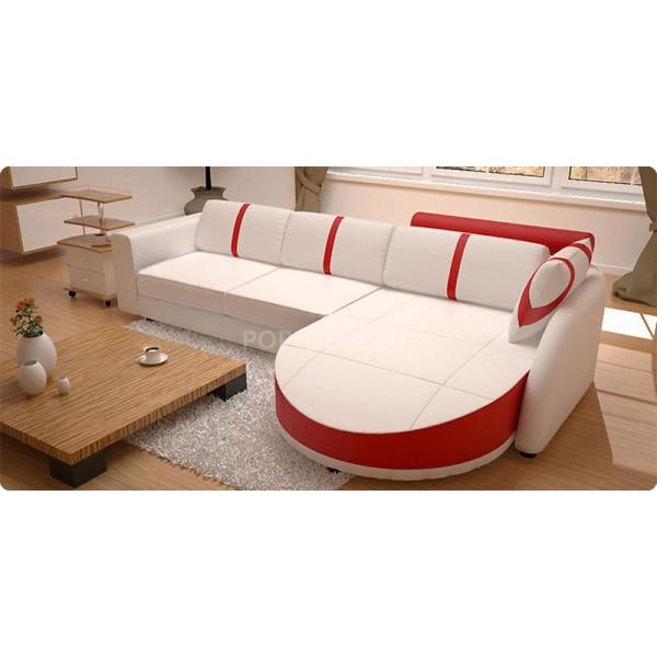 Canapé angle design en cuir Firenze