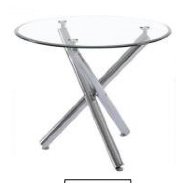Table De Salle À Manger Line Transparent diamètre 100cm