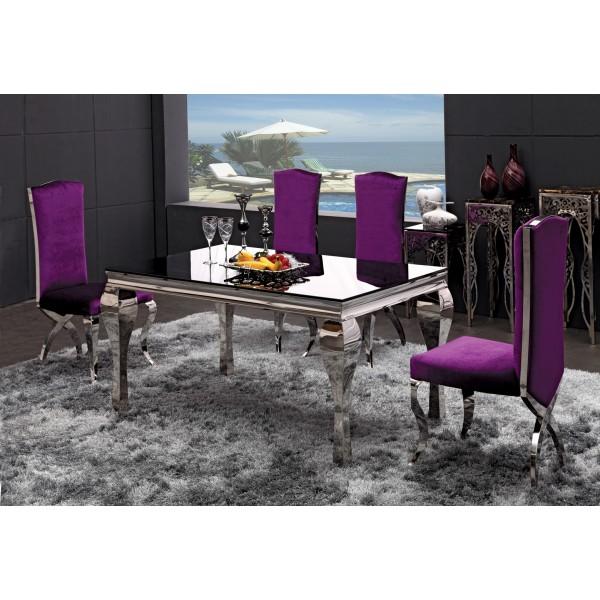 Table de salle manger en inox marquise for Destockage table a manger