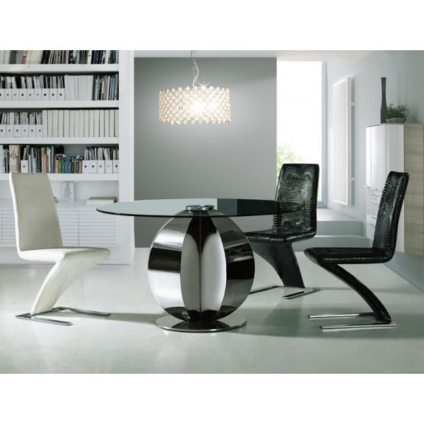 Table design ronde en inox Giro