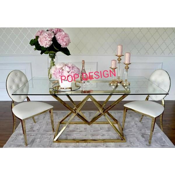 Table de salle  à manger inox doré  ISIS