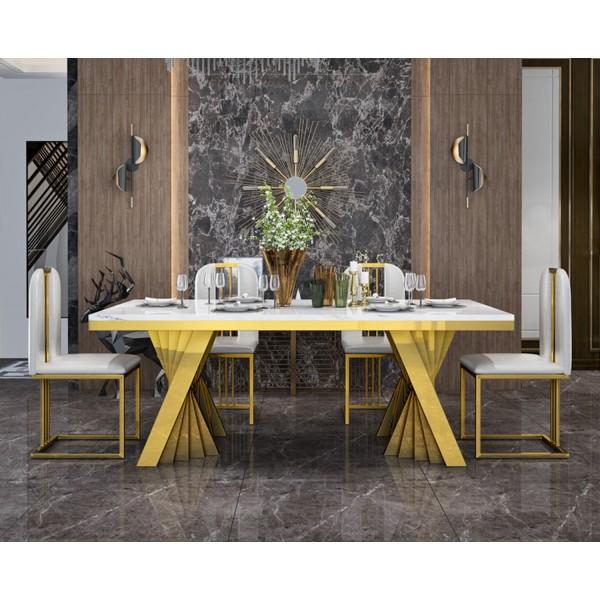 Table de salle à manger en inox Sofia