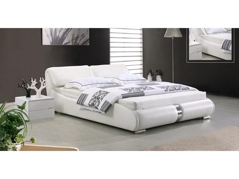 lit personnalisable oslo 140 160 180 cuir ou simili sommier matelas. Black Bedroom Furniture Sets. Home Design Ideas