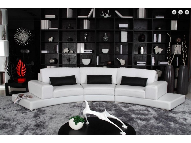 canap demi lune meuble de salon contemporain. Black Bedroom Furniture Sets. Home Design Ideas