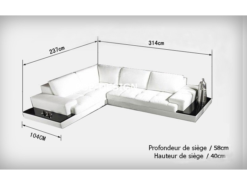 delightful canape d angle sur mesure 3 mobilierunique. Black Bedroom Furniture Sets. Home Design Ideas