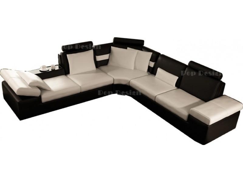 canap d 39 angle design en cuir pleine fleur monaco pop. Black Bedroom Furniture Sets. Home Design Ideas