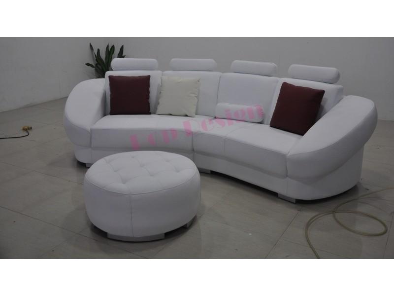 canap demi lune design en cuir aquila pop. Black Bedroom Furniture Sets. Home Design Ideas