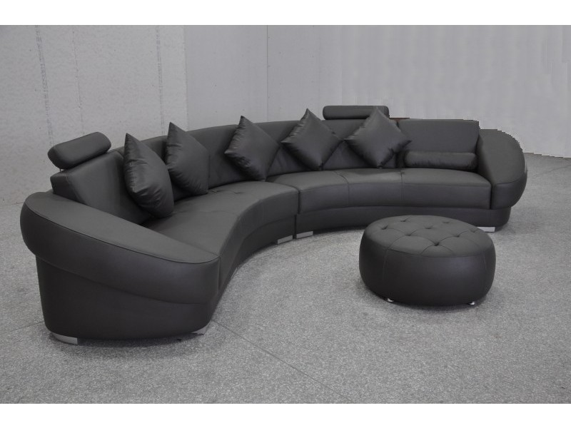 canap d 39 angle design en cuir aquila pouf pop. Black Bedroom Furniture Sets. Home Design Ideas