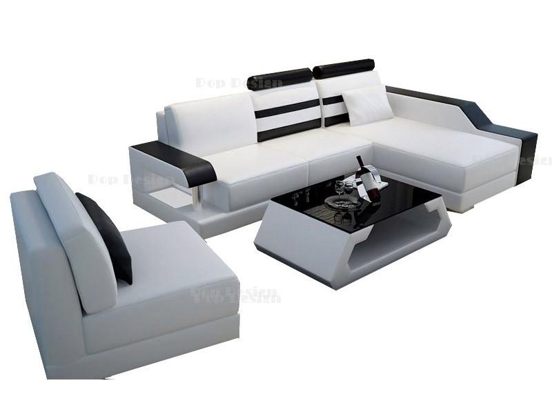 canap d 39 angle modulable en cuir castel clairage int gr. Black Bedroom Furniture Sets. Home Design Ideas