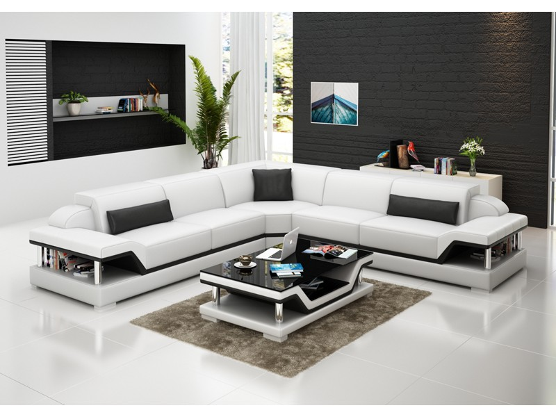 Canap d 39 angle en cuir milano l relax pop for Canape milano