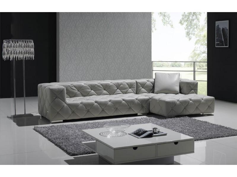 canap d 39 angle en cuir pleine fleur chesterfield carr pop design f. Black Bedroom Furniture Sets. Home Design Ideas