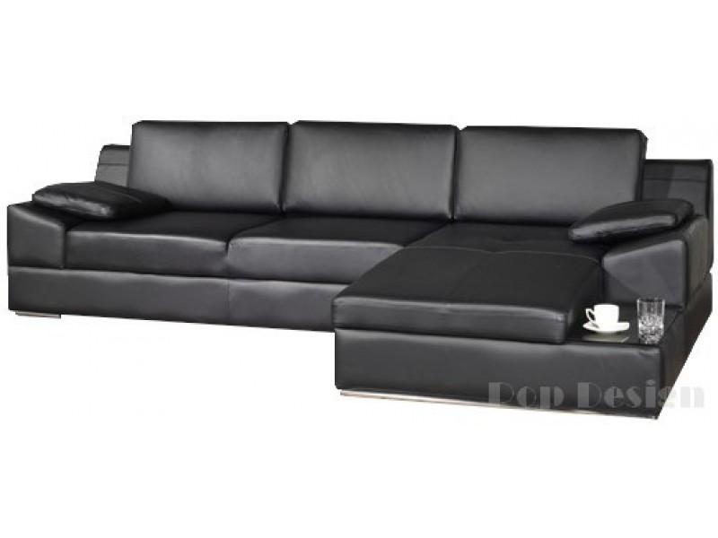 canap d 39 angle en cuir pleine fleur elite pop. Black Bedroom Furniture Sets. Home Design Ideas