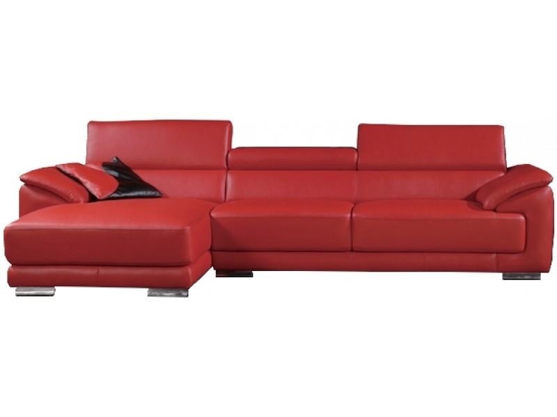 canap d 39 angle en cuir pleine fleur jackson pop. Black Bedroom Furniture Sets. Home Design Ideas