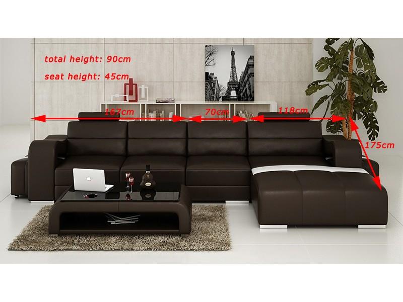 canap d 39 angle en cuir pleine fleur montpellier pop. Black Bedroom Furniture Sets. Home Design Ideas