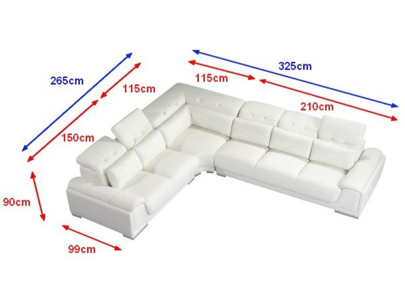 canap d 39 angle en cuir valentino pop. Black Bedroom Furniture Sets. Home Design Ideas