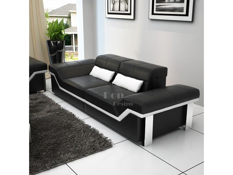 canap design 3 places en cuir pleine fleur torino pop. Black Bedroom Furniture Sets. Home Design Ideas